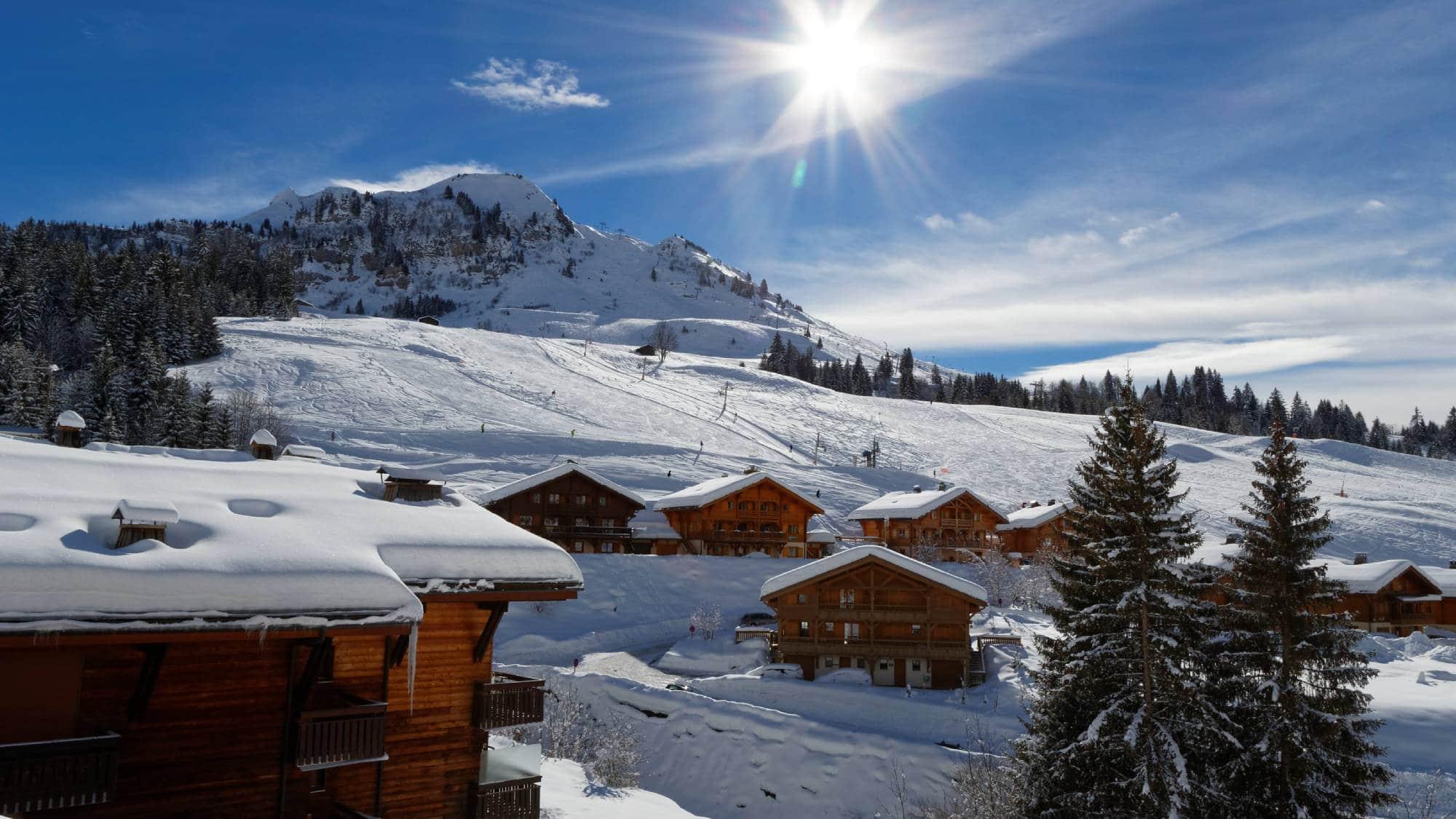 Pistes de ski du Chinaillon au Grand Bornand